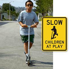 Slow Children Signs