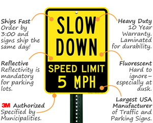 Slow Down Sign Features