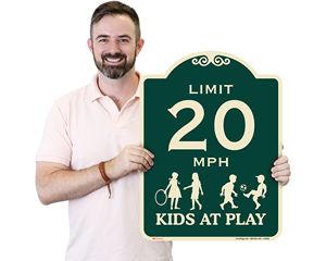 Slow Kids at Play Sign