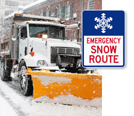 Snow Emergency Road Traffic Signs