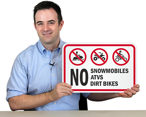 Snowmobile Crossing Road Sign