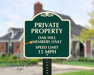 Custom speed limit sign