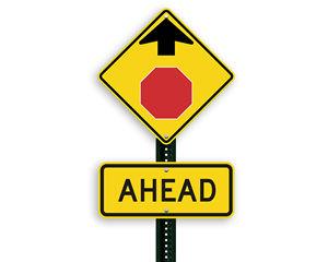 Stop Ahead Symbol Signs