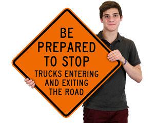 Truck traffic sign
