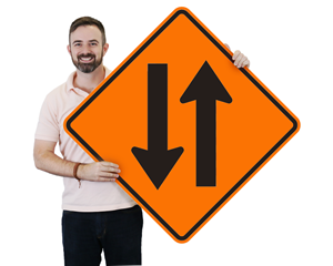 Two Way Traffic Signs – Diamond Shaped