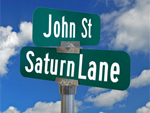 Civic Official Street Signs