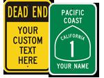 Custom Road Warning Signs