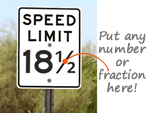 Create Your Own Speed Limits!