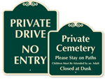 Designer Private Road Signs
