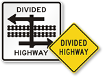 Looking for Divided Highway Signs?