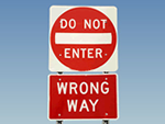 Looking for Do Not Enter Traffic Signs?