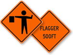 Flagger Signs