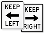 Keep Right and Keep Left Signs