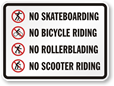 No Bikes Allowed Signs - More Designs