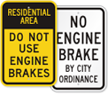 No Engine Braking Signs
