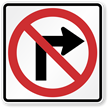 Turn Prohibition Signs