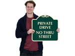 No Thru Traffic Signs