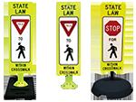 Pedestrian Crosswalk Signs