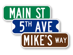 Looking for Personalized Street Signs?