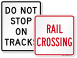 Looking for Railroad Crossing Signs?