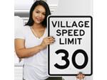 Village Speed Limit Signs