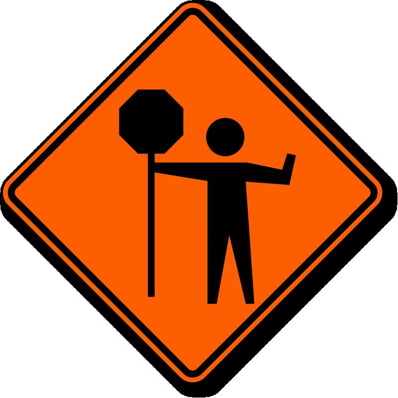 Flagger Signs Flagger Ahead Signs