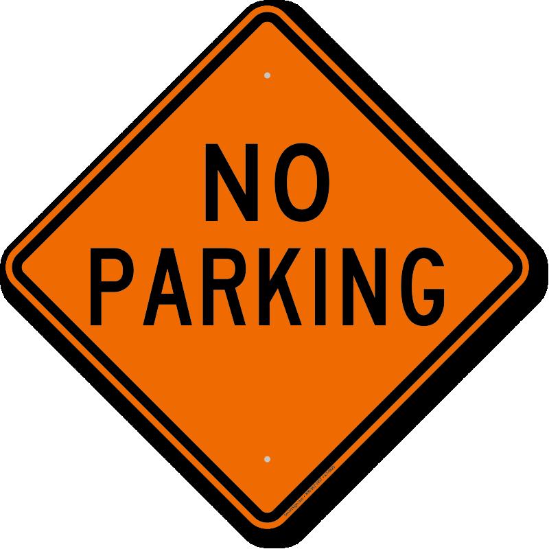 Diamond-Shaped No Parking Sign, SKU: K2-0825