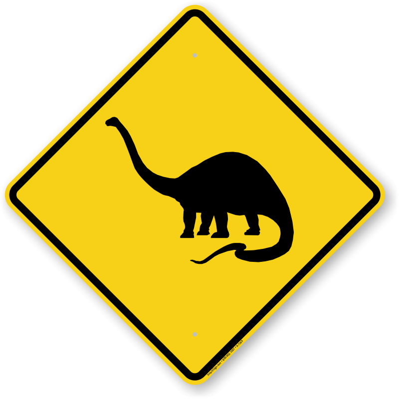 crossing signs sign animal dinosaurs symbol dinosaur warning traffic clipart funny transparent cliparts roadtrafficsigns mph library clip zoom
