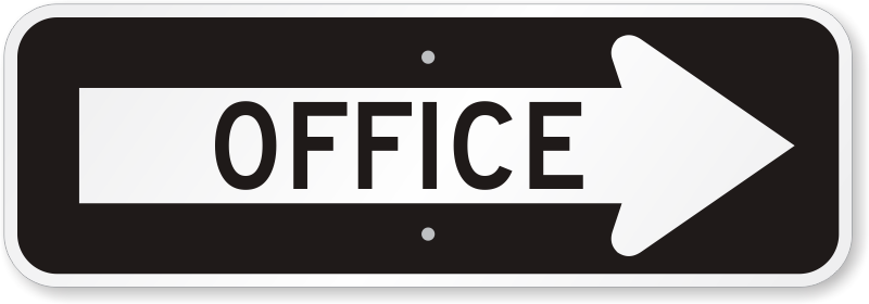 Office Right Directional Arrow Sign Ships Fast Sku K 0457 R