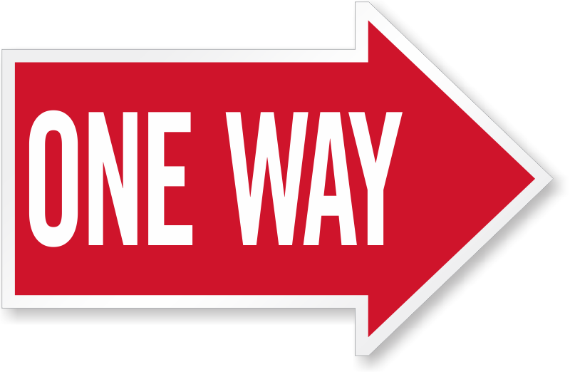 One Way Signs Fast Shipping