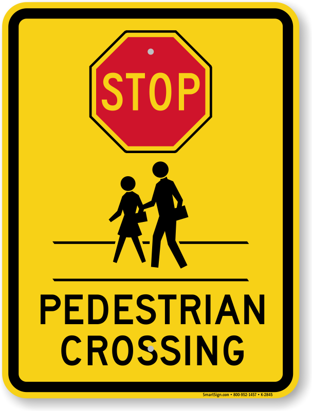 School Crossing Student Crossing Signs