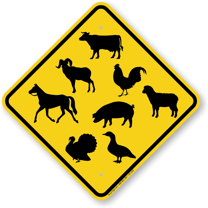 crossing animal sign symbols various animals k2 1565 spn