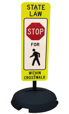 Yield To Pedestrians State Law Sign And Post Kit R1 6a