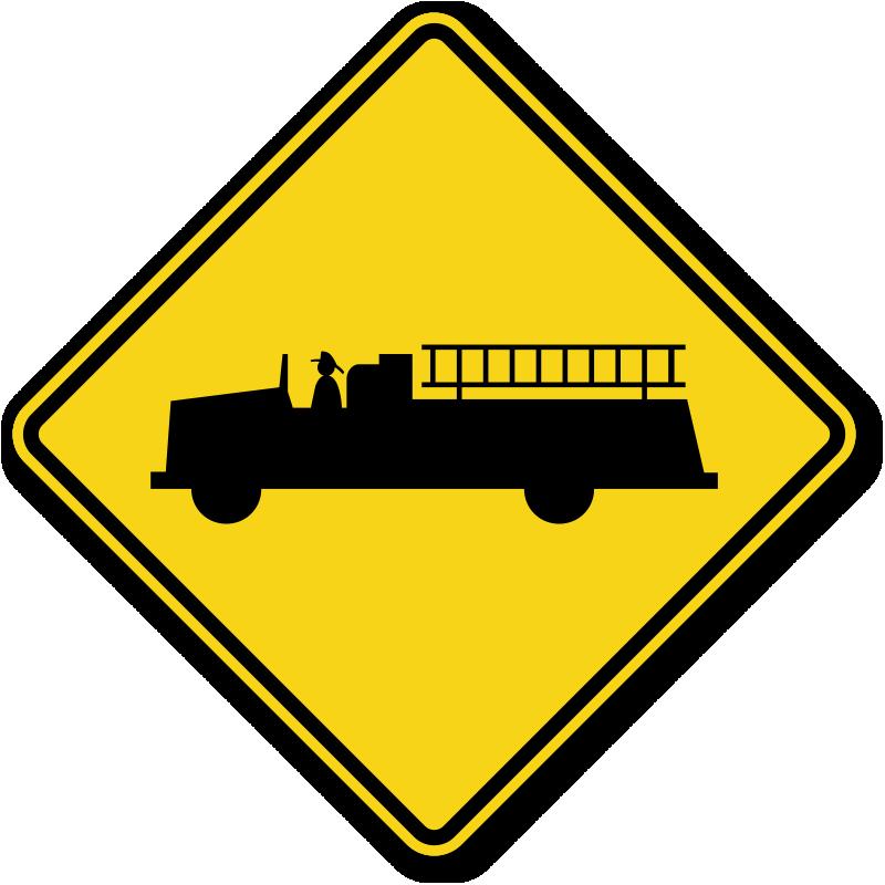 Warning Road Sign Emergency Vehicle Traf...