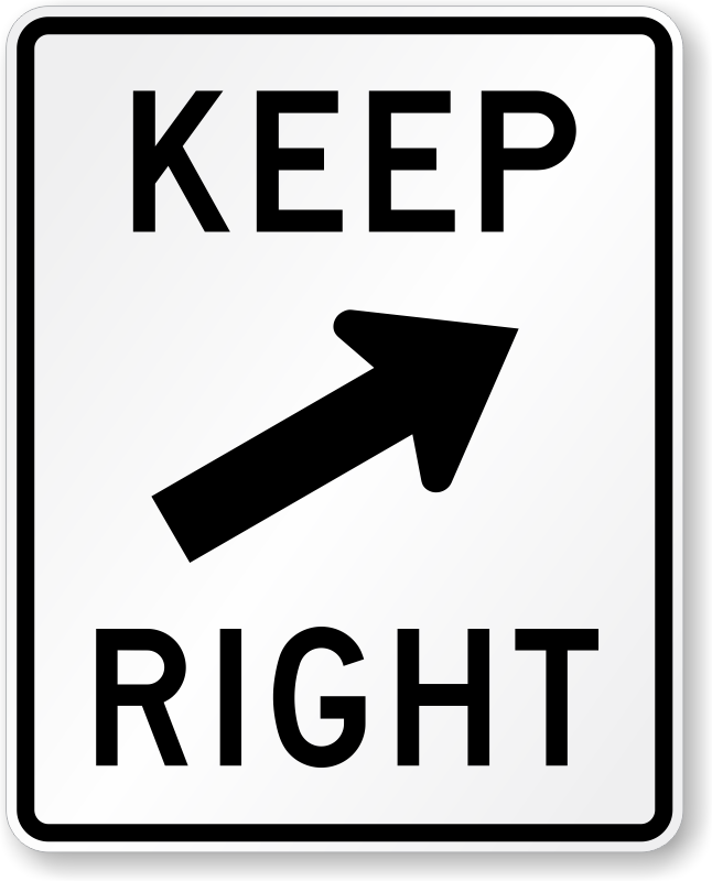 Arrow Symbol Keep Right Sign R4 7b Sku X R4 7b