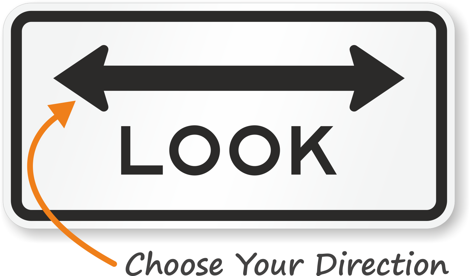 Look Both Directions Sign - R15-8, SKU: X-R15-8