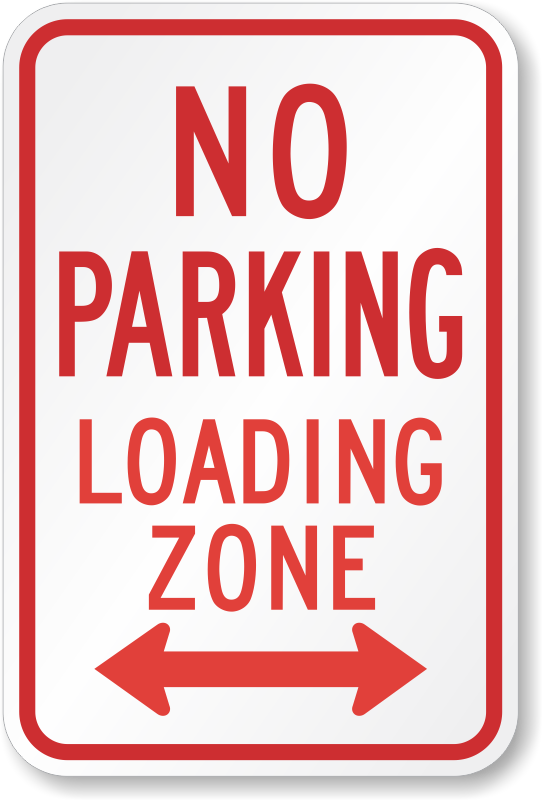 No Parking Loading Zone Sign R7 6d Sku X R7 6d