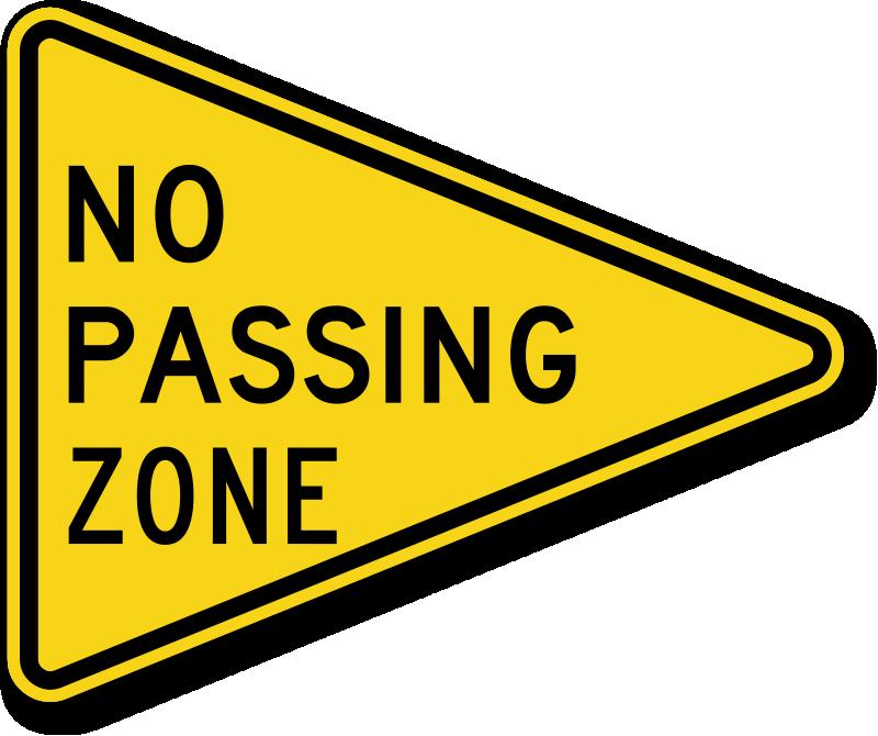 no passing zone traffic sign - w14-3, sku: x-w14-3