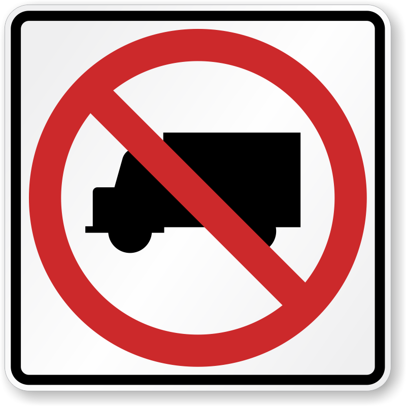 No Camper Van Trucks Road Traffic Sign