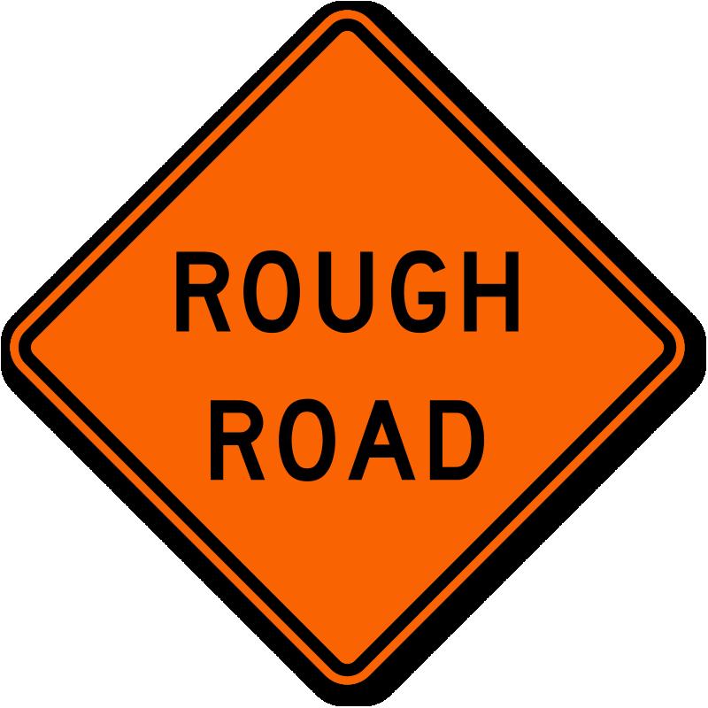 rough road sign w88 sku xw88
