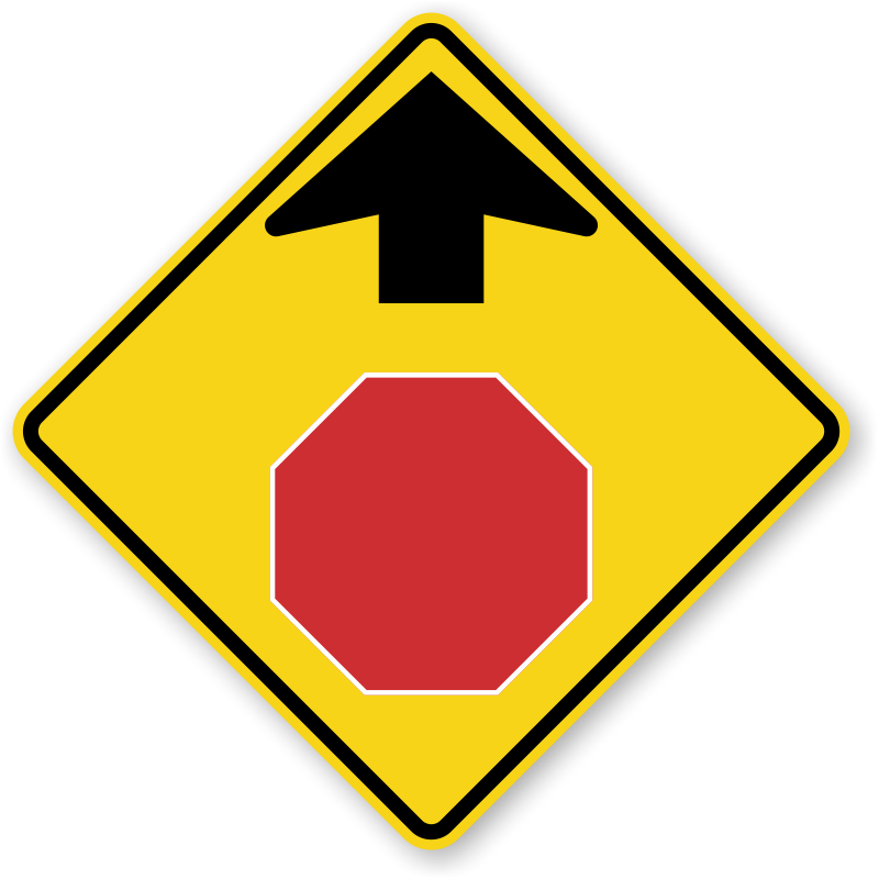 Stop Ahead Symbol Sign W3 1 Sku X W3 1