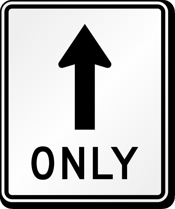 b737f62c1730 Straight Thru Only Sign - R3-5a, SKU  X-R3-5a
