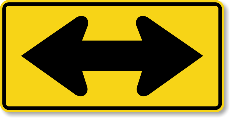 two way traffic signs divided highway