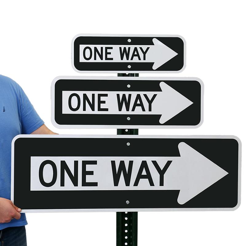 One Way Sign R6 1r Sku X R6 1r