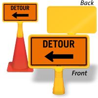 DETOUR ConeBoss Sign With Choose Arrow