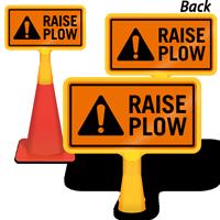 Raise Plow ConeBoss Sign