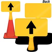 Straight Thru Arrow ConeBoss Sign
