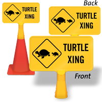 Turtle Xing  ConeBoss Sign