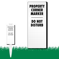 Property Corner Marker EasyStake Survey Sign