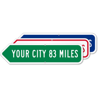 Add Your Custom City Left Arrow Sign